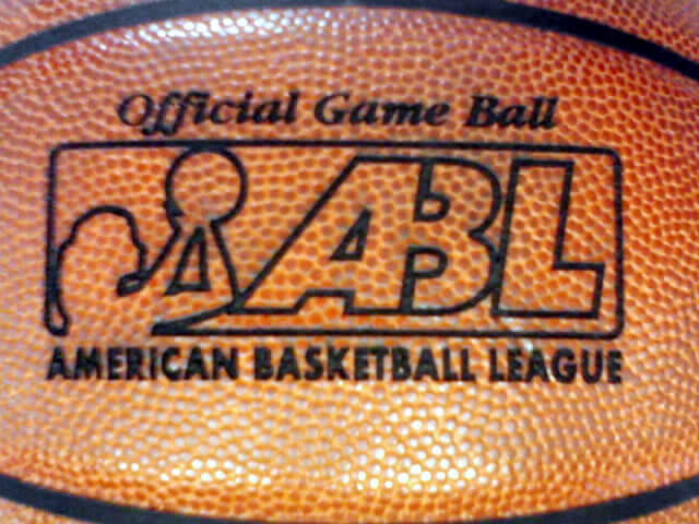 CO2 Laser Engraved Marking - Official Game Ball - ABL - American Basketball League