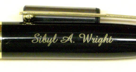 Monogramed Laser Marked Anodized Aluminum Pen In A Script Font
