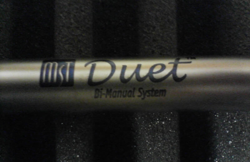 Laser Marked Microsurgical Duet Titanium Eye Surgery Implement Combines Text And Graphics