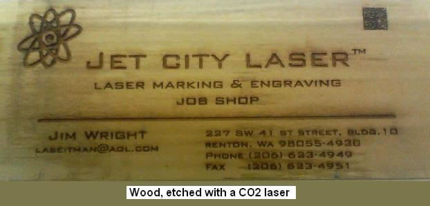 CO2 Laser Marked Wood Business Card With Attractive Charred Look
