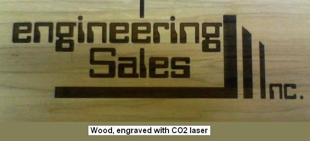CO2 Laser Marked Wood Business Name And Logo With Attractive Charred Look