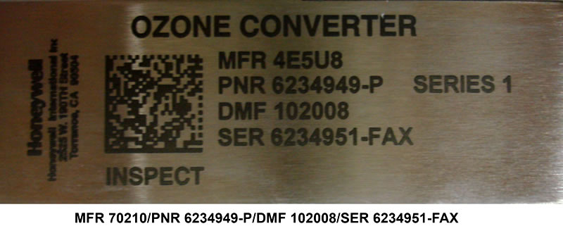 Laser Bonded Stainless Steel Nameplate Per Military Standard 130 Construct 2 Specification