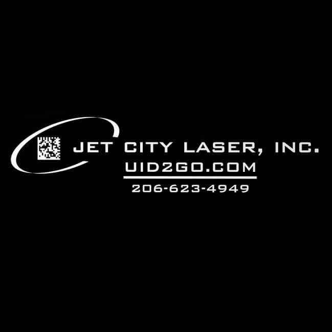 Jet City Laser Engraved Logo, Name, Web Domain And Telephone Number