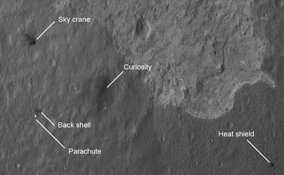 Scene of a martian landing NASA JPL Caltech University of Arizona