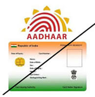 iuid aadhaar with strike thru uadi gov