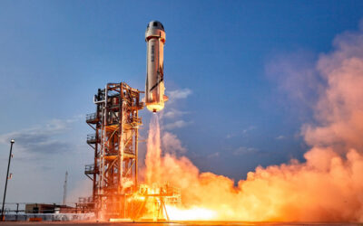 Blue Origin Launched a Team from the Earth to Space and Safely Back to Earth